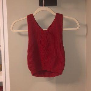 Dynamite knit cropped tank top